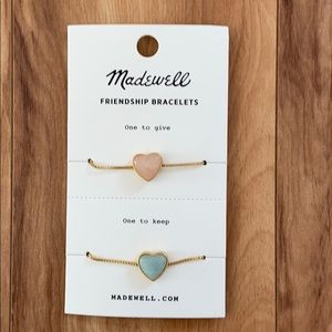 Madewell Heart Rock Friendship Bracelet Set